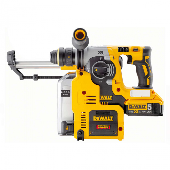 DEWALT 18V BL SDS+ Hammer with Dust Extractor | DCH275P2